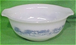 1 1/2 Qt Mixing Bowl Glasbake Currier Ives