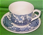 Teacup + Saucer Fair Winds Blue Alfred Meakin