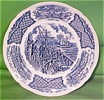 Bread Plate Fair Winds Blue Alfred Meakin