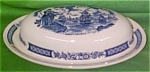 Butter Dish And Lid Fair Winds Blue Alfred Meakin