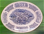 Oval Platter Large Fair Winds By Meakin Blue