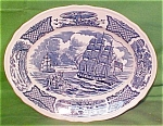 Oval Platter Small Fair Winds By Meakin Blue