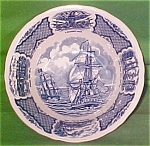 Large Serving Bowl 8 1/2 Fair Winds By Meakin Blue