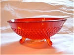 Footed Ruby Orange Candy Dish
