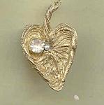 Rhinestone Lily Brooch Pin