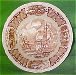 Large Serving Bowl 9 Inch Fair Winds By Meakin Brown