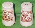 Salt + Pepper Shakers Fair Winds Brown Alfred Meakin