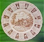 1962 Brown Calendar Plate Meakin Zodiac
