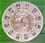 1972 Brown Calendar Plate Meakin Zodiac