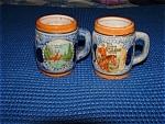 Vintage Ceramic Japanese Set Of 2 Mugs