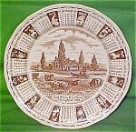 1988 Brown Calendar Plate Meakin Zodiac