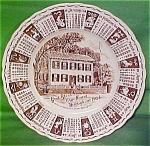 1964 Brown Calendar Plate Meakin Zodiac Lt Crz