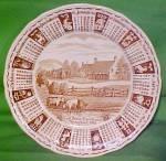 1985 Brown Calendar Plate Meakin Zodiac