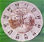 1971 Brown Calendar Plate Meakin Zodiac