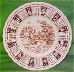 1961 Brown Calendar Plate Meakin Zodiac