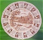 1977 Brown Calendar Plate Meakin Zodiac