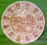 1981 Brown Calendar Plate Meakin Zodiac