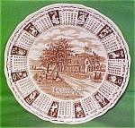 1976 Brown Calendar Plate Meakin Zodiac