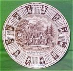 1982 Dark Brown Calendar Plate Meakin Zodiac