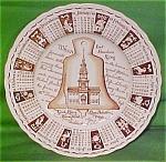 1966 Brown Calendar Plate Meakin Zodiac