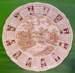 1968 Brown Calendar Plate Meakin Zodiac
