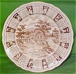 1970 Brown Calendar Plate Meakin Zodiac
