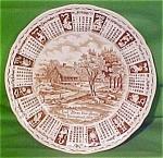 1975 Brown Calendar Plate Meakin Zodiac