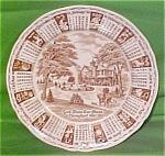 1980 Brown Calendar Plate Meakin Zodiac