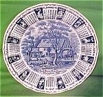 1986 Blue Calendar Plate Meakin Zodiac