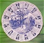 1971 Blue Calendar Plate Meakin Zodiac
