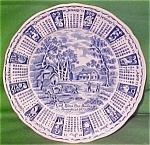 1973 Blue Calendar Plate Meakin Zodiac