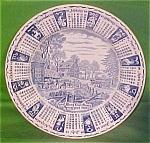 1984 Blue Calendar Plate Meakin Zodiac
