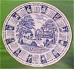 1980 Blue Calendar Plate Meakin Zodiac