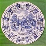 1974 Blue Calendar Plate Meakin Zodiac