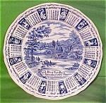 1977 Blue Calendar Plate Meakin Zodiac