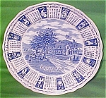 1976 Blue Calendar Plate Meakin Zodiac Myott