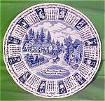 1978 Blue Calendar Plate Meakin Zodiac Myott