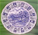 1975 Blue Calendar Plate Meakin Zodiac Myott