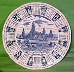 1988 Blue Calendar Plate Meakin Zodiac
