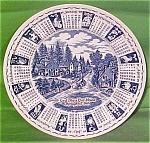 1989 Blue Calendar Plate Meakin Zodiac Norma Sherman