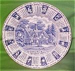 1982 Bluecalendar Plate Meakin Zodiac