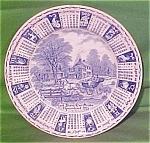1983 Blue Calendar Plate Meakin Staffordshire Zodiac