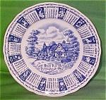1962 Blue Calendar Plate Meakin Zodiac