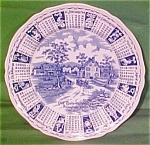 1968 Blue Calendar Plate Meakin Zodiac