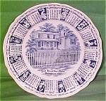 1967 Blue Calendar Plate Meakin Zodiac