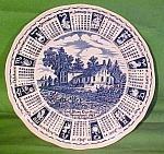 1987 Blue Calendar Plate Meakin Zodiac