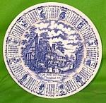 1986 Blue Calendar Plate Meakin Zodiac Large
