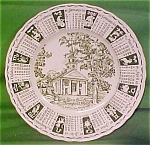1965 Green Calendar Plate Meakin Zodiac