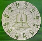 1966 Green Calendar Plate Meakin Zodiac