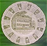 1964 Green Calendar Plate Meakin Zodiac